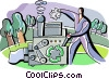 Recycle Machine Vector Clipart picture