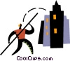 Vector Clipart graphic  of a Pole Vaulter