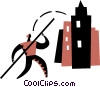 Pole Vaulter Vector Clipart illustration