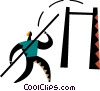 Vector Clipart picture  of a Pole Vaulter