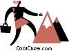 Reaching the Summit Vector Clip Art graphic