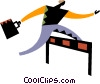Vector Clip Art image  of a Competition