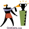 Vector Clipart picture  of a Trophies