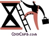 Climbing Ladders Vector Clipart illustration