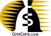 Vector Clipart image  of a Money Bags