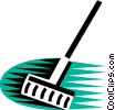 Vector Clipart picture  of a Rakes