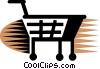 Shopping Carts Vector Clipart illustration