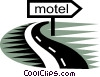 Vector Clip Art graphic  of a Hotels and Motels