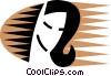 Vector Clip Art graphic  of a Misc Women