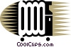 Electric Heaters Vector Clipart graphic