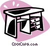 Vector Clipart picture  of a desk