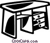 Vector Clip Art picture  of a desk
