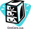 Vector Clipart illustration  of a drawers
