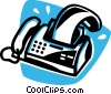 Vector Clip Art picture  of a fax machine