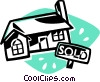 sold home Vector Clip Art picture