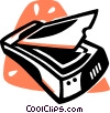 flatbed scanner Vector Clipart illustration