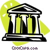 Vector Clipart graphic  of a bank