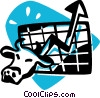 Vector Clipart graphic  of a stock market concept