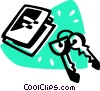 Vector Clip Art graphic  of a keys