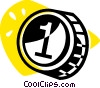 Vector Clip Art graphic  of a coin