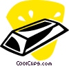 Vector Clip Art picture  of a gold bar