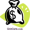 money bag Vector Clipart picture
