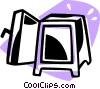 Vector Clip Art graphic  of a safe