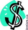 Vector Clip Art image  of a dollar sign