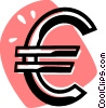 Vector Clipart illustration  of a currency symbol