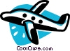commercial jet Vector Clipart picture
