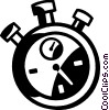 Vector Clip Art picture  of a stopwatch