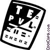 Vector Clip Art graphic  of a Eye and Ear Examinations