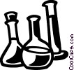 Vector Clipart illustration  of a Beakers Flasks and Test Tubes