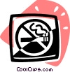 Vector Clipart picture  of a Cigarettes