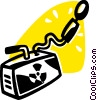 Vector Clipart illustration  of a Radioactive Symbols