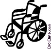 Vector Clip Art picture  of a Wheelchairs