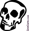 Vector Clipart graphic  of a Skulls