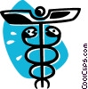 Vector Clipart image  of a Caduceus
