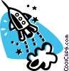 Rocket ship Vector Clipart image