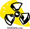 Vector Clipart image  of a radioactive sign