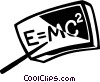 Vector Clip Art graphic  of a Physics