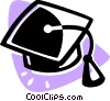 Vector Clip Art image  of a graduation cap