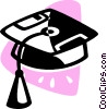 graduation cap Vector Clipart illustration
