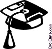 graduation cap Vector Clipart graphic
