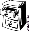 Vector Clip Art picture  of a Drawers and Cabinets