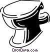 Toilets Vector Clipart illustration