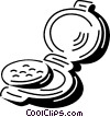 Vector Clip Art picture  of a Compacts
