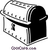 Vector Clip Art image  of a Treasure Chests