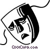 Vector Clip Art graphic  of a Comedy and Drama Masks