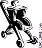 Vector Clip Art image  of a Strollers and Carriages